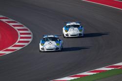 #18 Muehlner Motorsports America Porsche GT3: Kyle Marcelli, Dion von Moltke and #19 Muehlner Motors