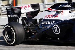 Williams FW35 rear suspension ve arka kanat