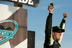 Victory lane: race winner Kyle Busch