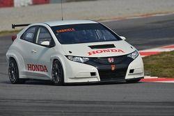 Габриэле Тарквини. Тесты Honda Civic, тесты.