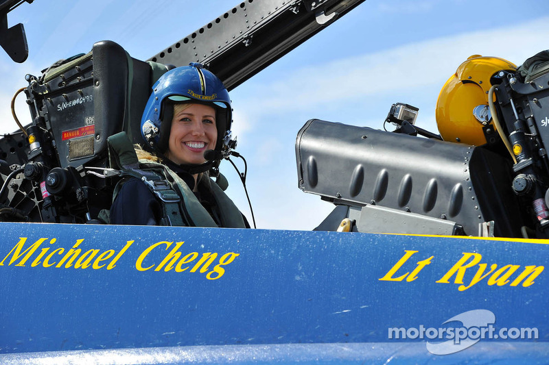 Courtney Force in the Blue Angels jet