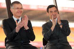 Carlos Tavares, chefe operacional da Renault, e Pierre Fillon, presidente da ACO