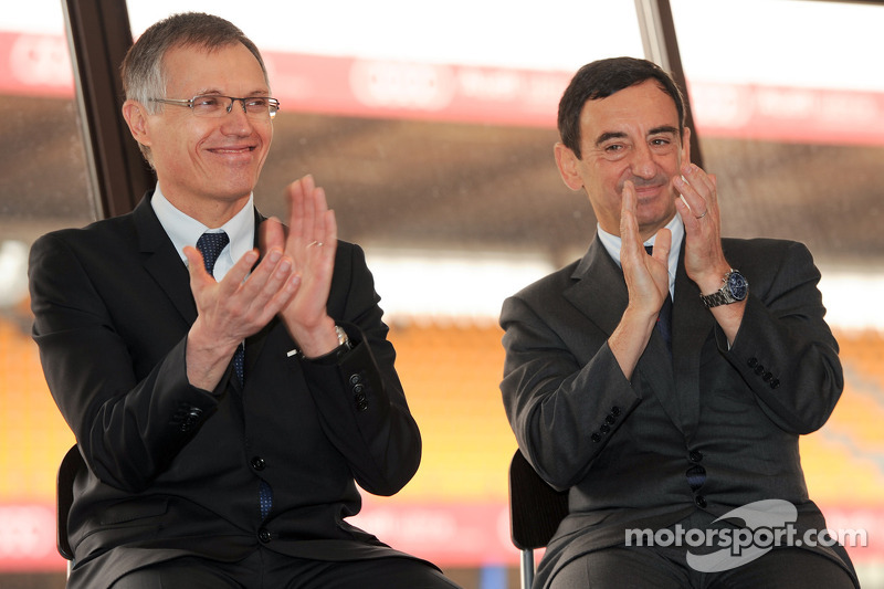 Carlos Tavares, operating chief Renault, en Pierre Fillon, president ACO