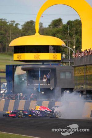 Mark Webber in the Red Bull F1