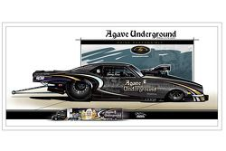 Agave Underground Tequila sponsort Danny Rowe Racing