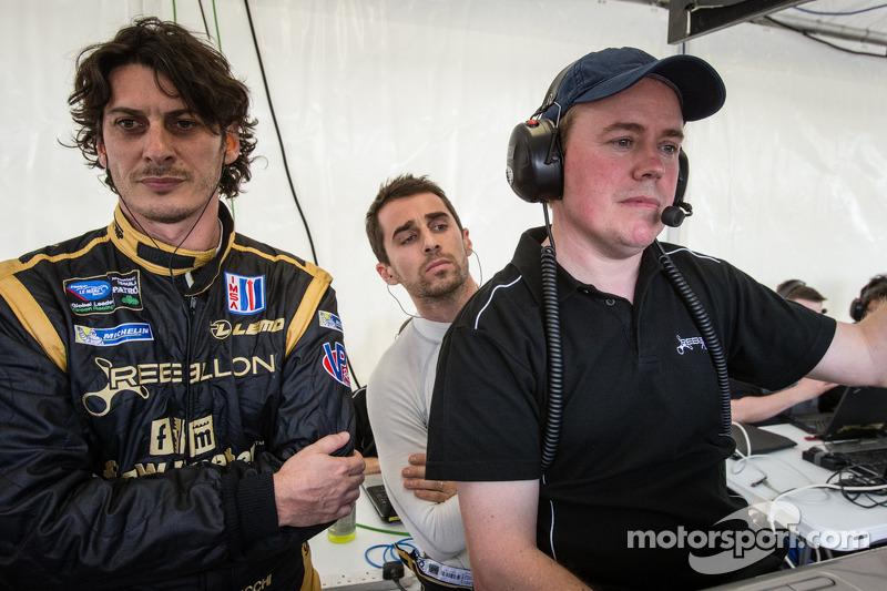 Andrea Belicchi, Nicolas Prost, Rebellion Racing team manager Bart Hayden