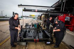 Level 5 Motorsports team members at work