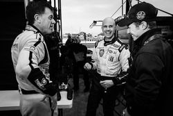 Scott Tucker, Marino Franchitti et Ryan Briscoe