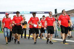 Jules Bianchi, Marussia F1 Team pist yürüyüşü