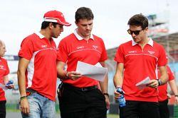 Rodolfo Gonzalez, Marussia F1 Team et Jules Bianchi, Marussia F1 Team