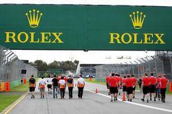 Rolex trackside branding