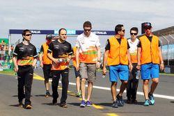 Paul di Resta, Sahara Force India F1 pist yürüyüşü