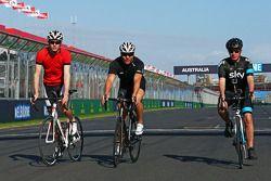 Paul di Resta, Sahara Force India F1 ve Sir Chris Hoy, Olympic Track Cycling Champion ve Martin Brun