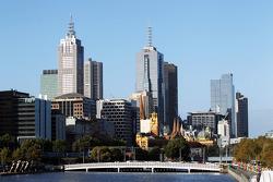 Scenic Melbourne cityscape