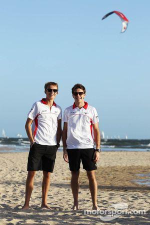 Max Chilton, Marussia F1 Team takım arkadaşı Jules Bianchi, Marussia F1 Team, beach