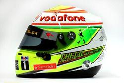 De helm van Sergio Perez, McLaren