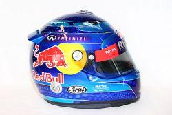 De helm van Sebastian Vettel, Red Bull Racing