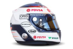 De helm van Valtteri Bottas, Williams