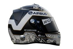 Le casque de Giedo van der Garde, Caterham F1 Team
