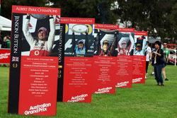 Boards showing former Australian GP winners
