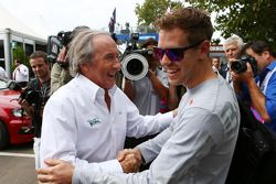 Sebastian Vettel, Red Bull Racing with Jackie Stewart