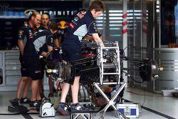 El Red Bull Racing RB9 es preparado