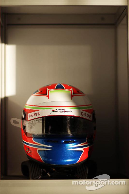 capacete de Paul di Resta, Sahara Force India F1