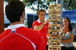 Jules Bianchi, Marussia F1 Team, compañero de equipo Max Chilton, Marussia F1 Team y Natalie Pinkham