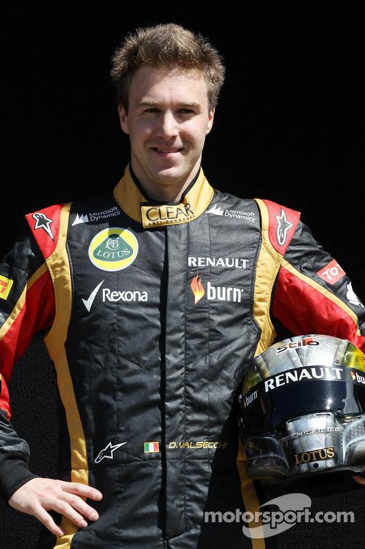 Davide Valsecchi, terceiro piloto da Lotus F1 E21, e Kimi Raikkonen