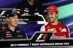 Sebastian Vettel, Red Bull Racing et Fernando Alonso, Ferrari