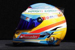El casco de Fernando Alonso, Ferrari