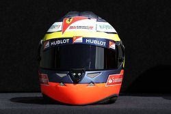The helmet of Pedro De La Rosa, Ferrari Development Driver