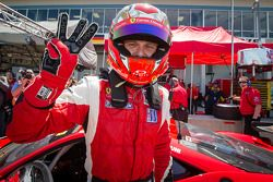 GT pole Gianmaria Bruni celebra