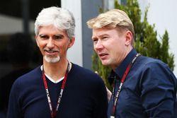 Damon Hill, Sky Sports mit Mika Häkkinen