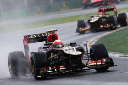 Romain Grosjean, Lotus F1 E21 voor teamgenoot Kimi Raikkonen, Lotus F1 E21