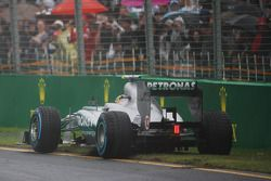 Lewis Hamilton, Mercedes AMG F1 W04 stops after a spin during qualifying, from which he recovered