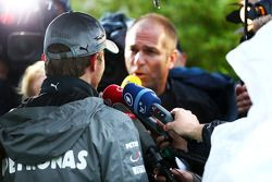 Nico Rosberg, Mercedes AMG F1 with Kai Ebel, RTL TV Presenter