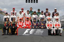 Photo de groupe des pilotes 2013