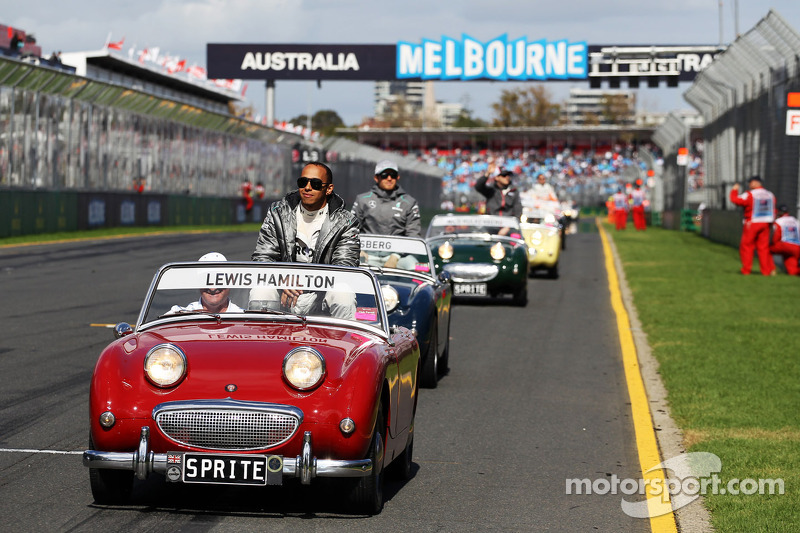 Льюис Хэмилтон. ГП Австралии, Воскресенье, перед гонкой.