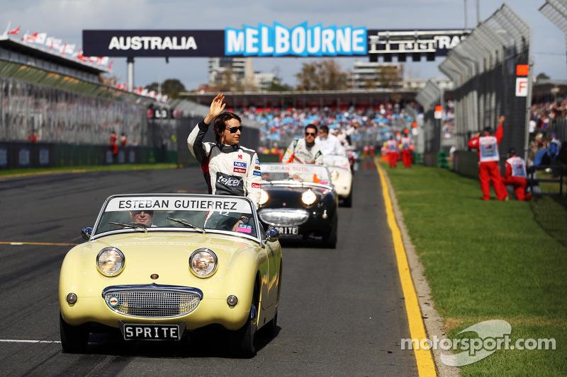 Эстебан Гутьеррес. ГП Австралии, Воскресенье, перед гонкой.