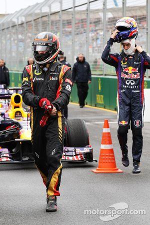 Kimi Raikkonen, Lotus F1 Team in parc ferme
