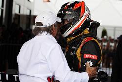 Kimi Räikkönen, Lotus F1 Team et Jackie Stewart