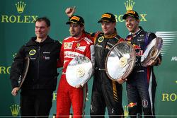 Fernando Alonso, Ferrari ; Jenson Button, McLaren ; Fernando Alonso, Ferrari
