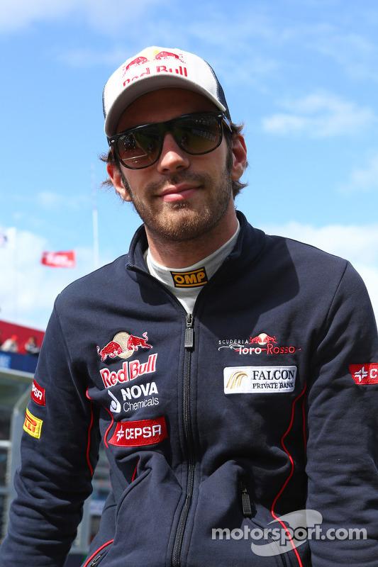Jean-Eric Vergne, Scuderia Toro Rosso no desfile de pilotos