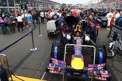 Red Bull Racing RB9 of Sebastian Vettel, Red Bull Racing on the grid
