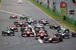 Arrancada Sebastian Vettel, Red Bull Racing RB9