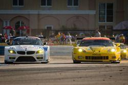 #56 BMW Team RLL BMW Z4 GTE: Dirk Müller, Joey Hand, John Edwards, #3 Corvette Racing Chevrolet Corvette C6 ZR1: Jan Magnussen, Antonio Garcia, Jordan Taylor