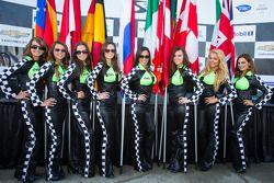 Amáveis garotas da bandeira