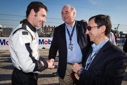 Simon Pagenaud com WEC consultant Frédéric Henry-Biabaud e ACO Presidente Pierre Fillon