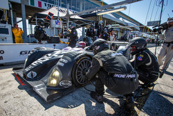 Pit stop for #7 BAR 1 Motorsports Oreca FLM09 Oreca: Rusty Mitchell, Chapman Ducote, Tomy Drissi